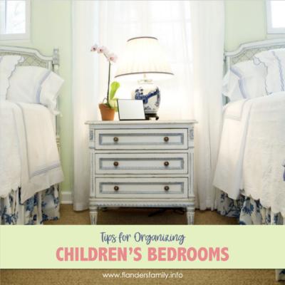 Tips for Organizing Children's Bedrooms