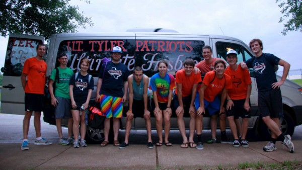 With Ultimate Frisbee Team from UT Tyler