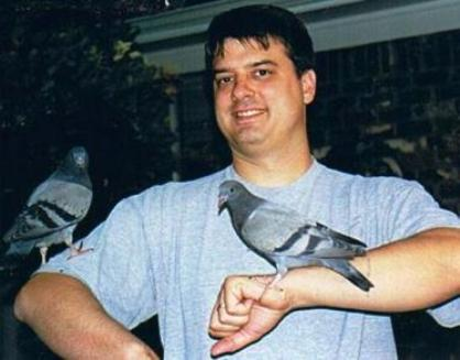2000 - Dad with Pigeons