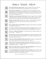 Free printable Bible ABC's