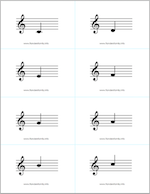 free printable musical note flashcards