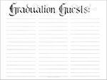Free printable graduation guestbook page
