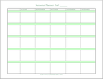 free printable semester planner