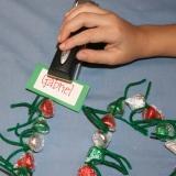 Candy Kiss Christmas Chain