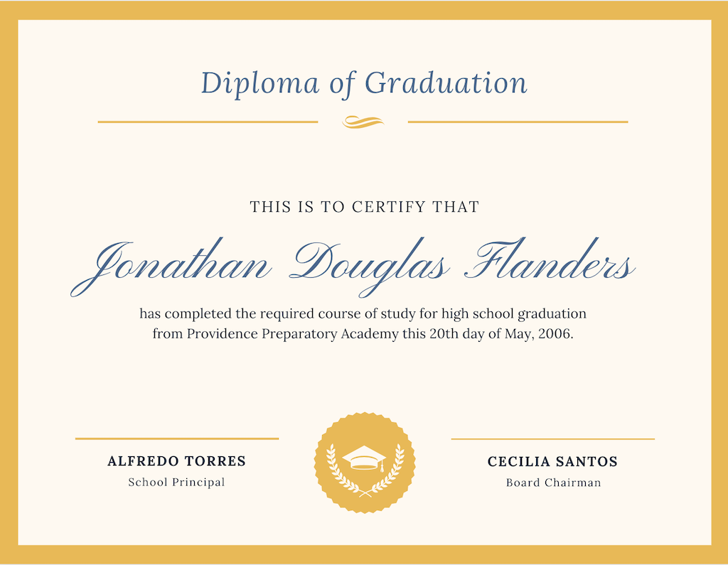 Canva Diploma Template
