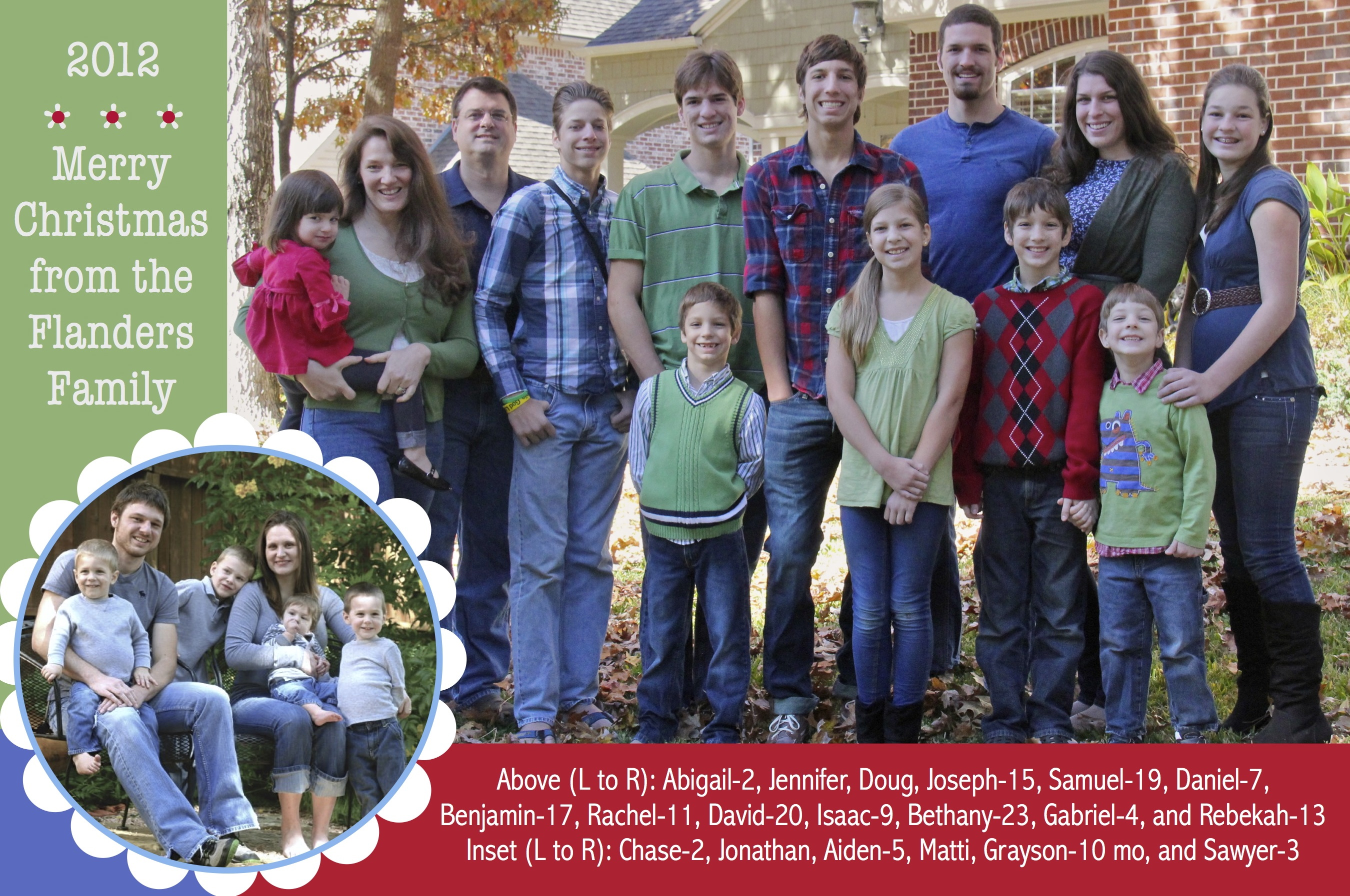 Merry Christmas from the Flanders Family