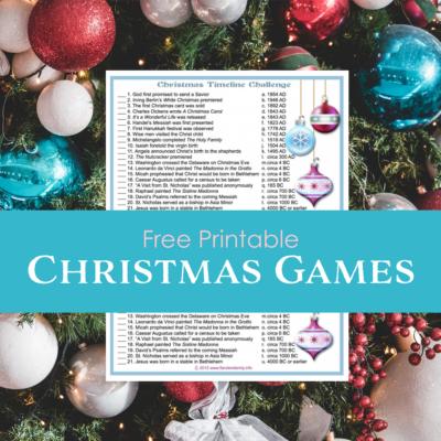 Christmas Timeline Challenge (Free Printable)