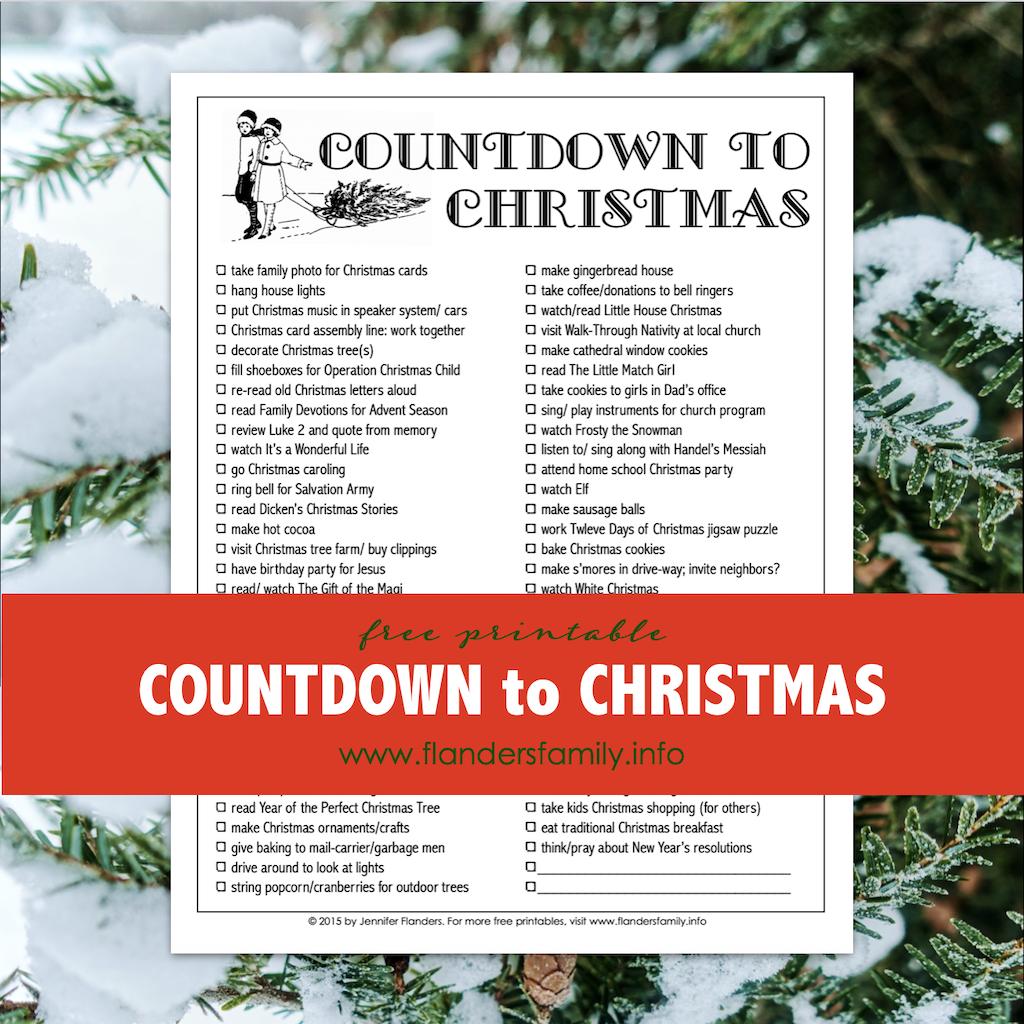 Countdown to Christmas Printable