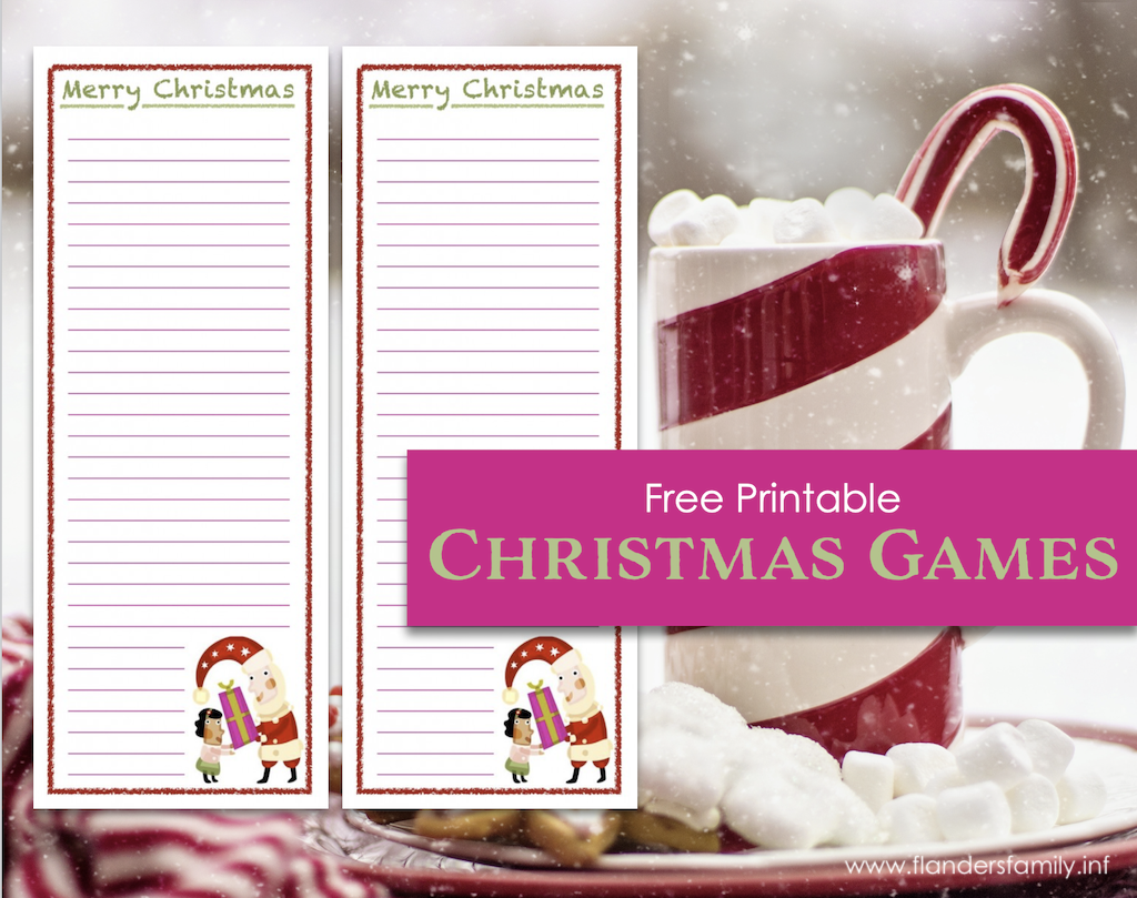 Free Printable Merry Christmas Word-Building Game