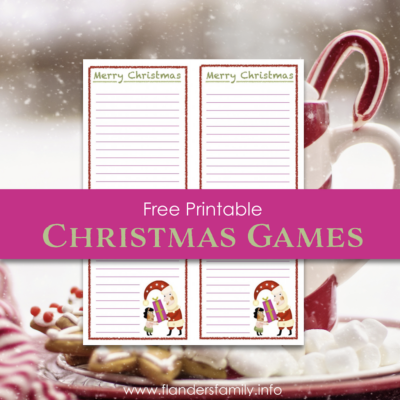 Merry Christmas Word-Building Game