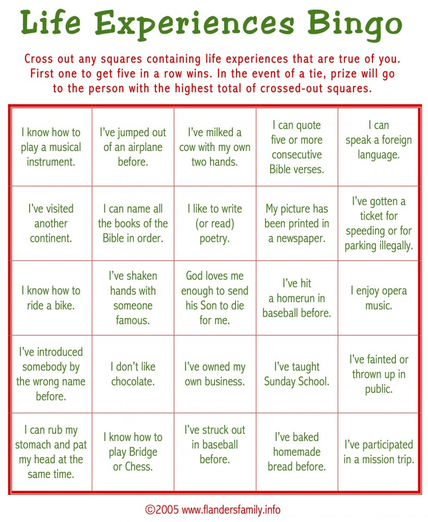Ice Breaker Bingo For Adults X on ice breaker bingo free printable