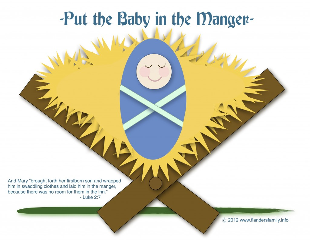 put the baby in the manger printable