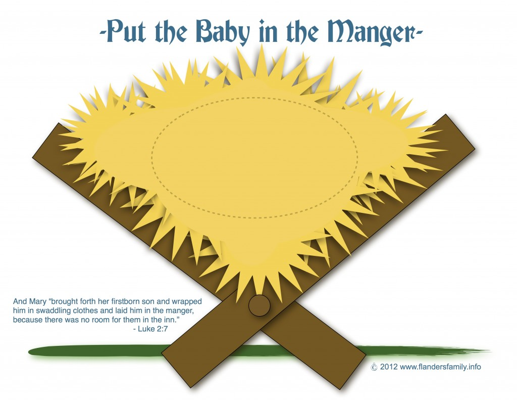 put the baby in the manger game
