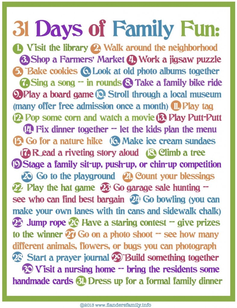 31 Days of Family Fun