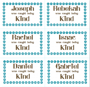 Kindness Punch Cards - Free Fill-in-the-Blank Printables so you can print your own from www.flandersfamily.info