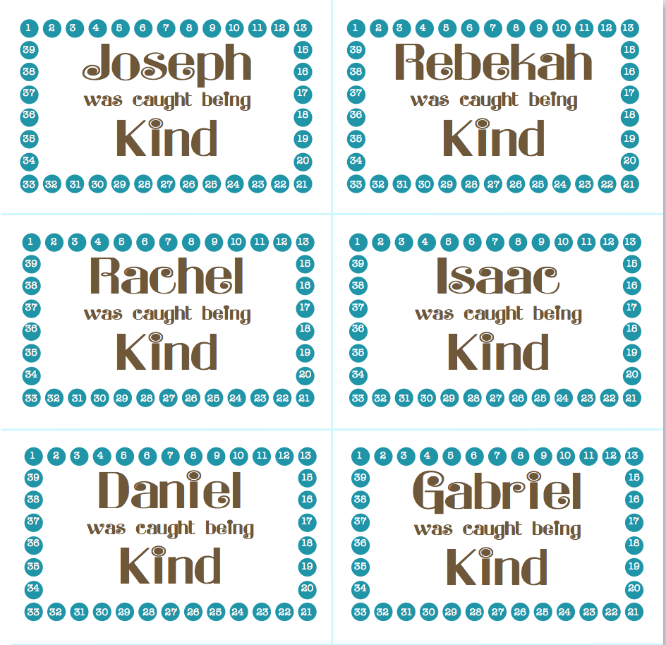 Kindness Punch Cards