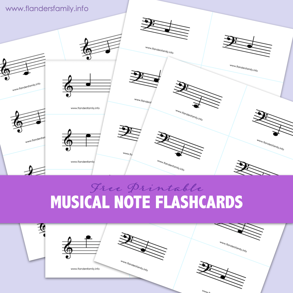 Musical Note Flashcards