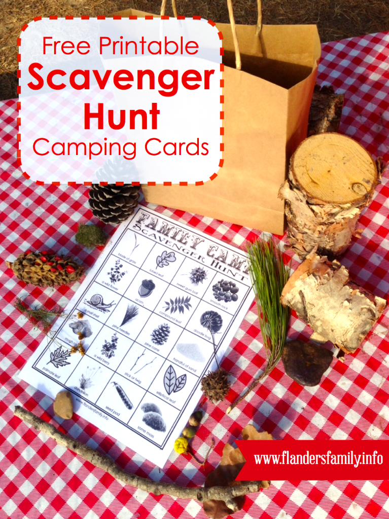 Family Camping Fun: Outdoor Scavenger Hunt {free printable from www.flandersfamily.info}