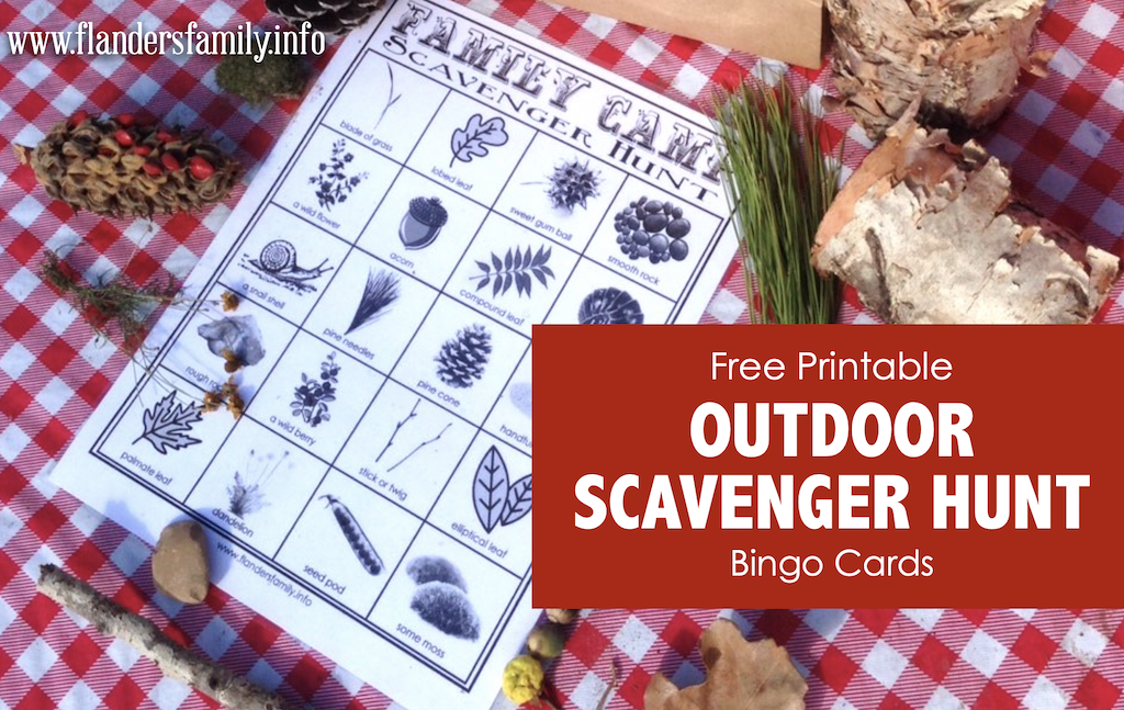 Outdoor Scavenger Hunt Cards