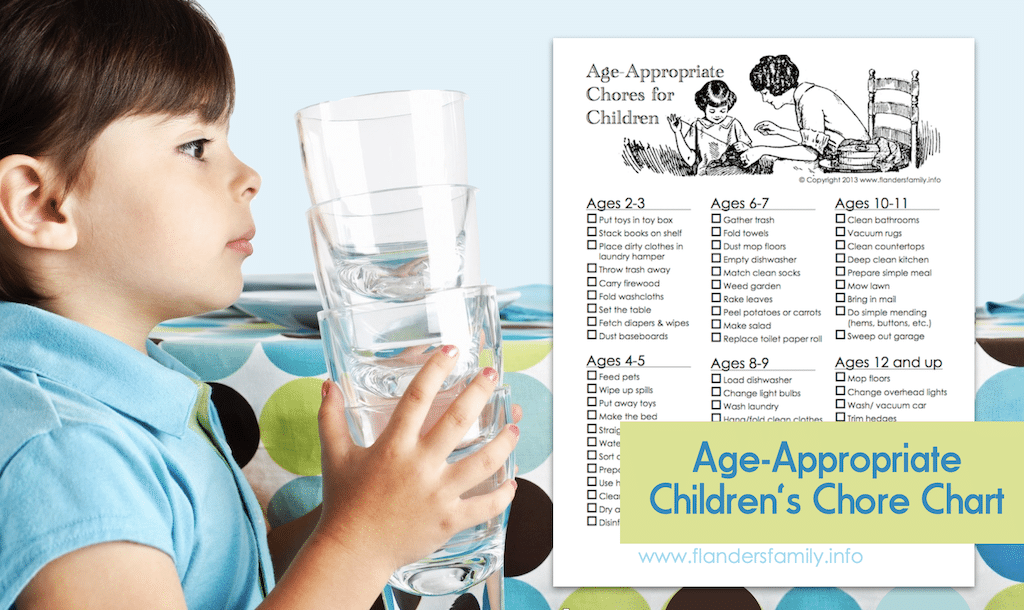 Age-Appropriate Chore Chart for Children