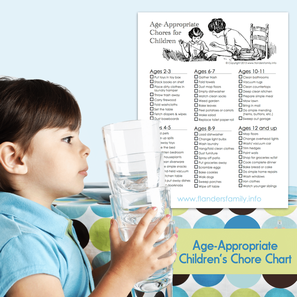 Age-Appropriate Children's Chore Chart - IG