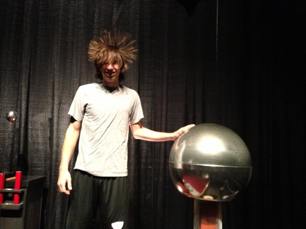 2013 - Ben with Tesla Coil