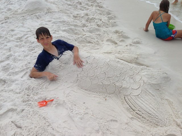 2013 -  Isaac as a Merman