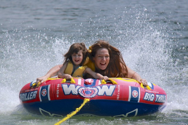 2013 - Mom and Abby on Tube
