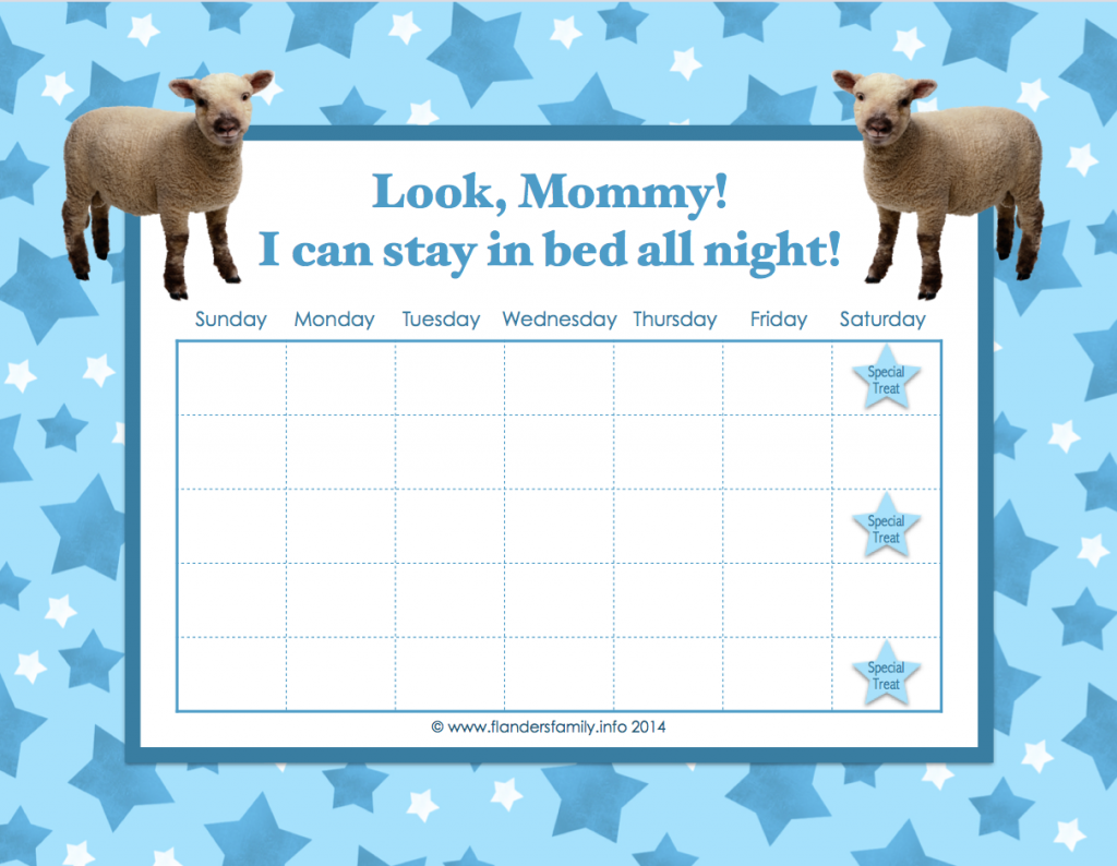 """Staying in Bed Success Chart""