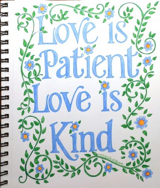 Love is Patient and Kind (and Mothers should be, too) | https://www.flandersfamily.info