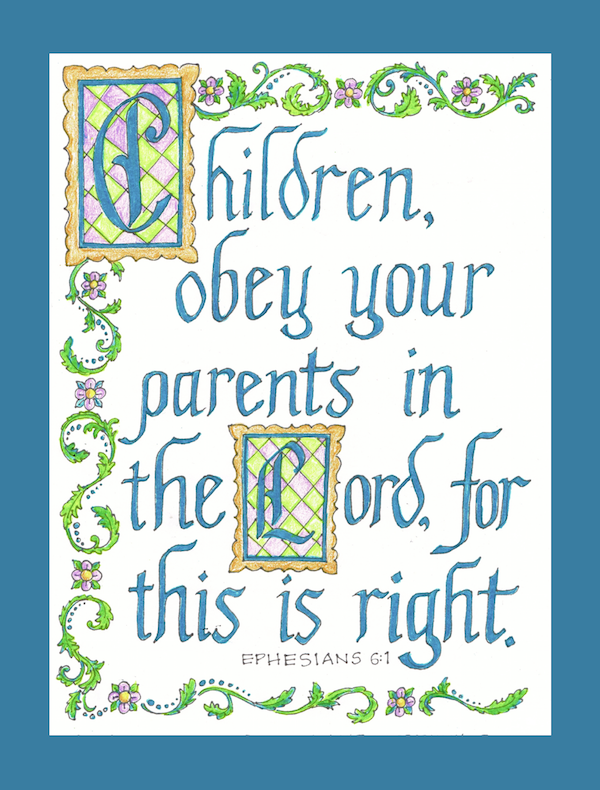 Calligraphy Coloring Pages - Flanders Family Homelife