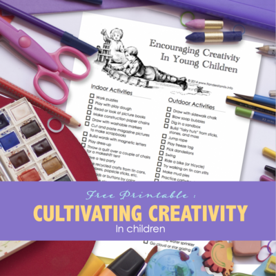 Cultivating Creativity in Young Children