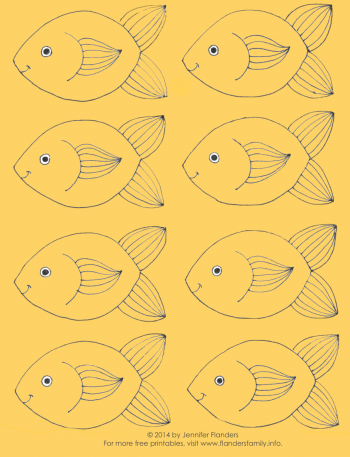 "Printable ""F"" Sound Fish Game for Speech Therapy from www.flandersfamily.info"