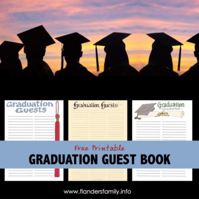 Graduation Guest Book Printables