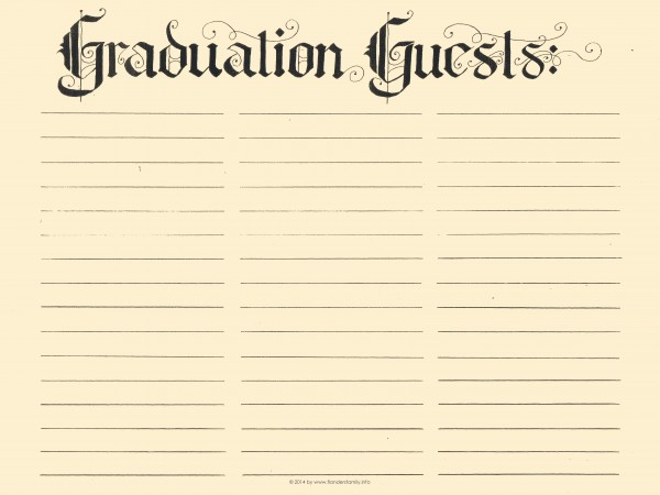 free printable graduation guest register via flandersfamily.info