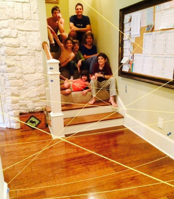 A Laser Beam Maze and other fun ideas for summer