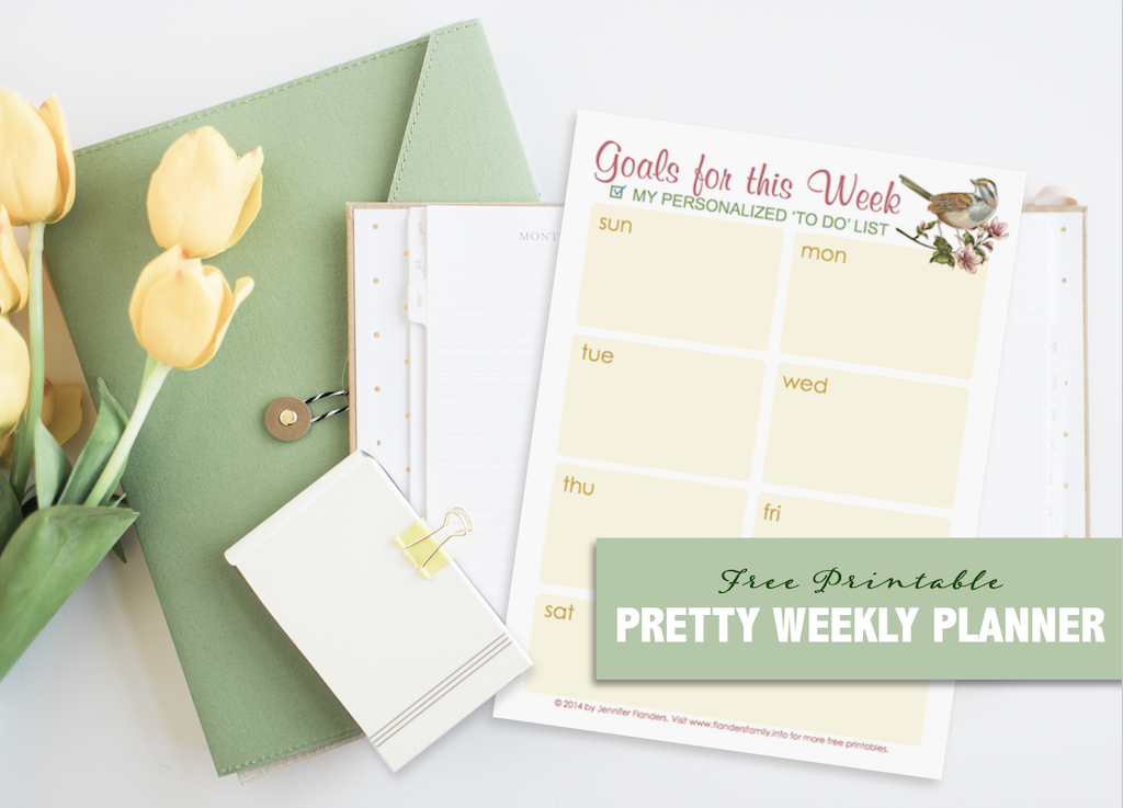 Free Pretty Weekly Planner