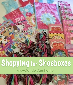 Shopping for Shoeboxes