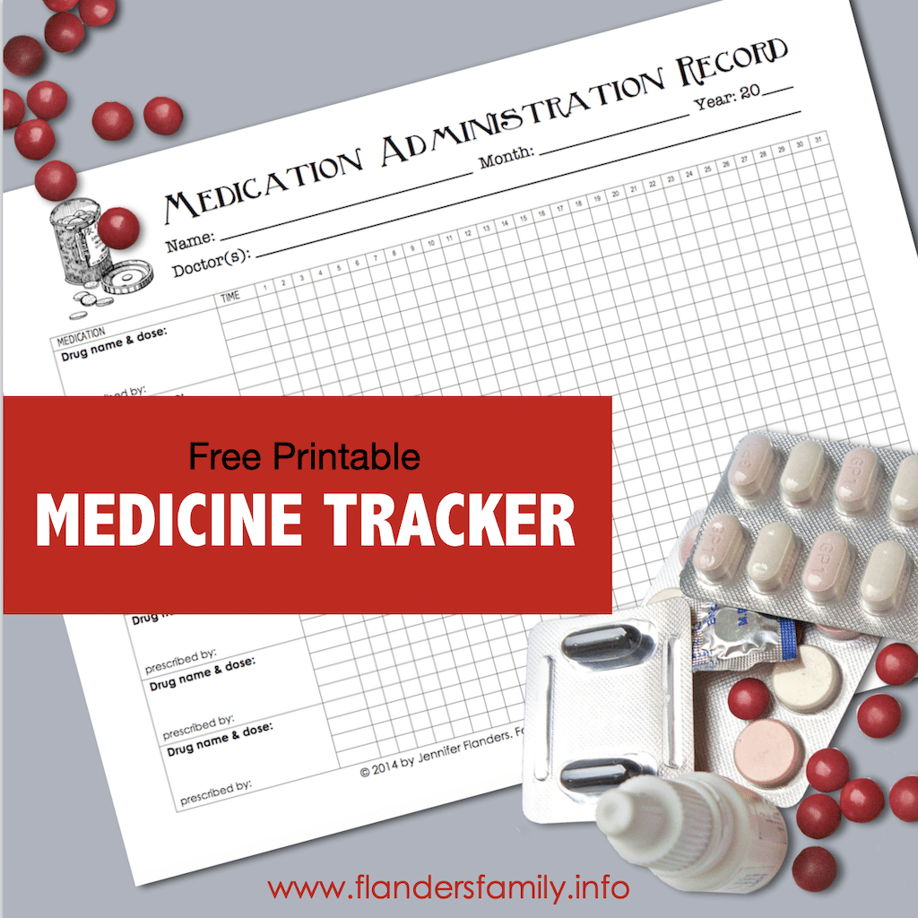 Free Chart for Tracking Medicines