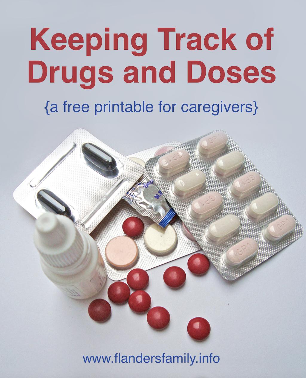 free printable medication chart