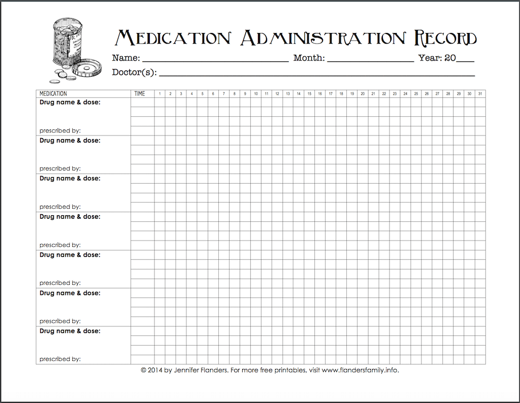 photograph about Medical Charts Templates known as Maintaining Monitor of Medicines (No cost Printable Chart