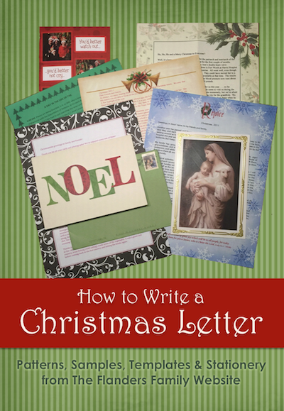 How to Write a Christmas Letter (with patterns, samples, templates, etc) from www.flandersfamily.info