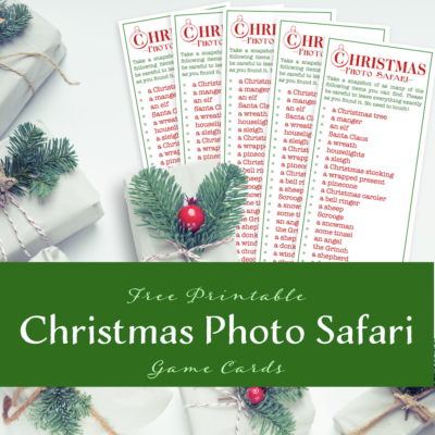 Christmas Photo Safari {free printable}