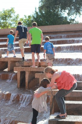 At the water gardens in Fort Worth