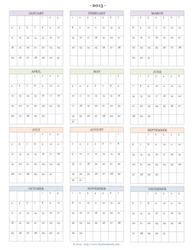 2015 Year-at-a-Glance Calendar