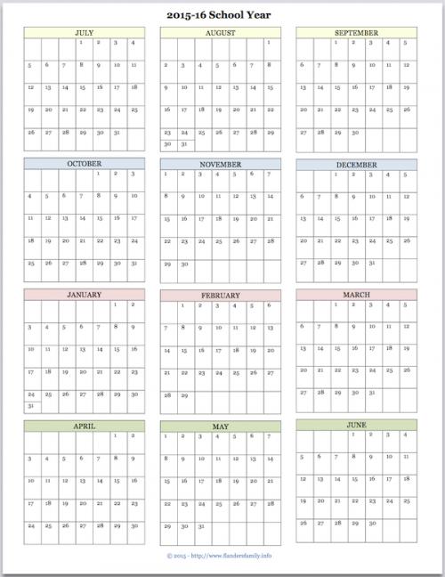 Academic Calendar Archives Flanders Family Homelife
