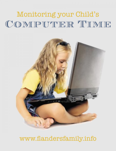 Monitoring Your Child's Computer Time -- Habits that Help