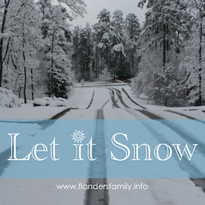 Let it Snow! (and make the most of it once it does!)