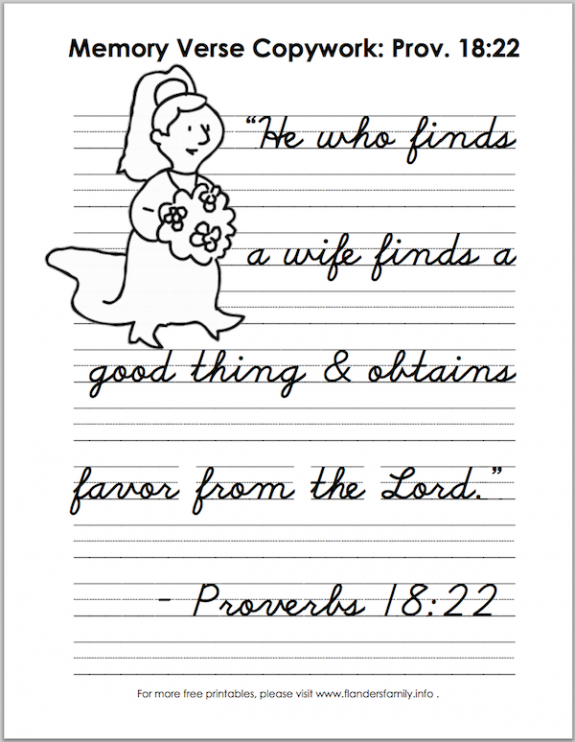 free printable Scripture memory copywork pages