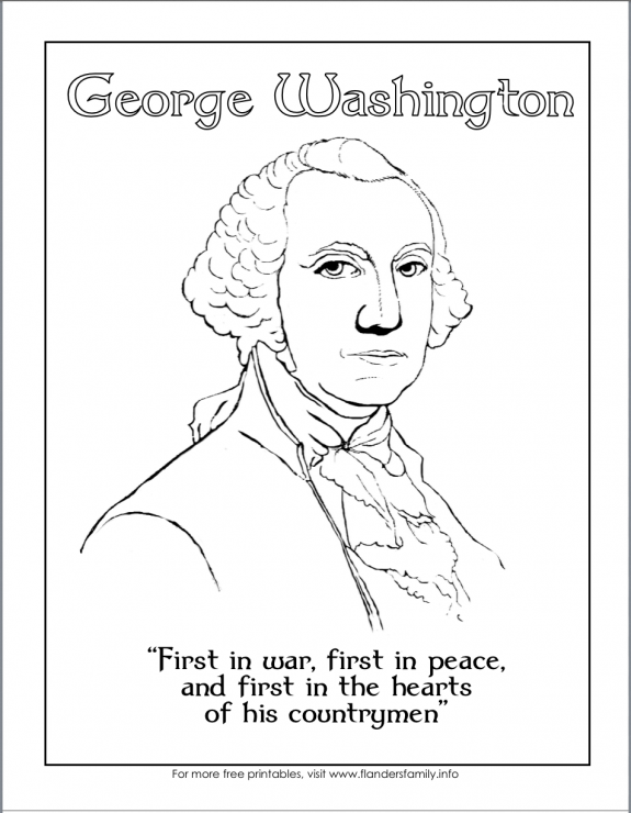Free printables for George Washington's Birthday from www.flandersfamily.info